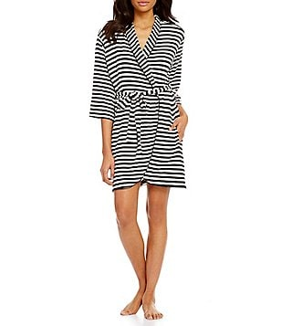 kate spade new york My Cherie Amour Striped French Terry Wrap Robe