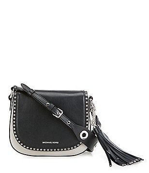 MICHAEL Michael Kors Brooklyn Tasseled Rivet Medium Saddle Bag