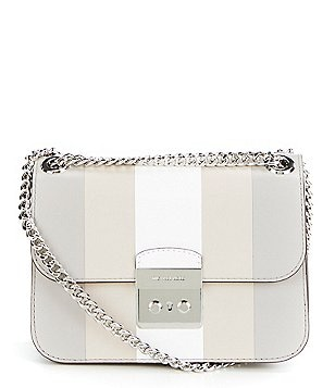 MICHAEL Michael Kors Sloan Editor Striped Cross-Body Bag