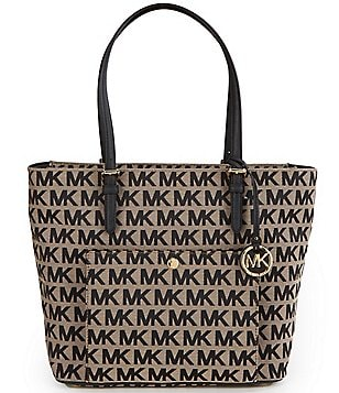 MICHAEL Michael Kors Jet Set Signature Large Snap-Pocket Tote