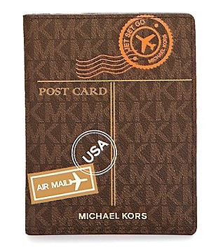 MICHAEL Michael Kors Signature Mail Passport Wallet
