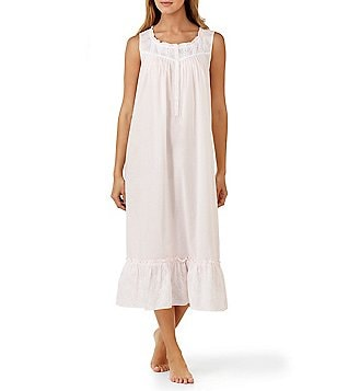 Eileen West Floral-Embroidered Nightgown