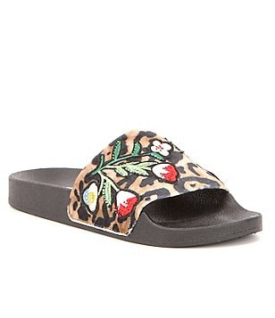 Steve Madden Patches Velvet Sandals