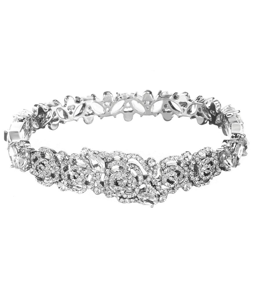 kate spade new york Crystal Rose Bangle Bracelet