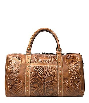 Patricia Nash Burnished Tooled Collection Milano Studded Weekender