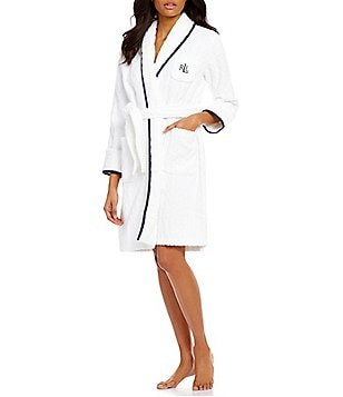 Lauren Ralph Lauren Cable Terry Wrap Robe