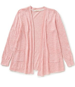 Copper Key Big Girls 7-16 Knit Patch-Pocket Open-Front Cardigan