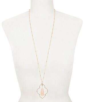 kate spade new york Lantern Gems Long Pendant Necklace