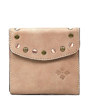 Patricia Nash Washed Denim Collection Reiti Studded Square Wallet