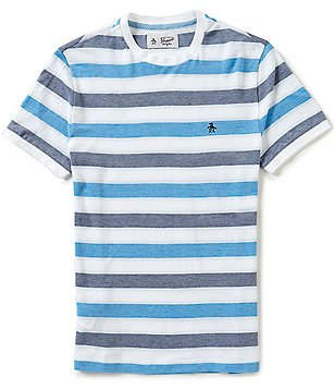 Original Penguin Birdseye Wide Stripe Short-Sleeve Tee
