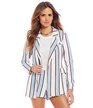 Gianni Bini Ryan Stripe Notch Collar Blazer