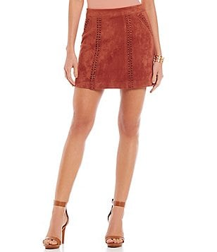 Gianni Bini Samson Faux-Suede Mini Skirt