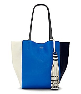 Vince Camuto Nylan Tasseled Color Block Small Tote