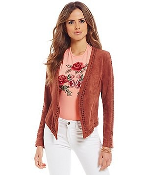 Gianni Bini Gia Faux-Suede Open Jacket