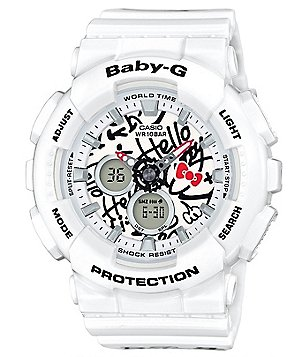 Baby-G Hello Kitty Ana-Digi Resin-Strap Watch