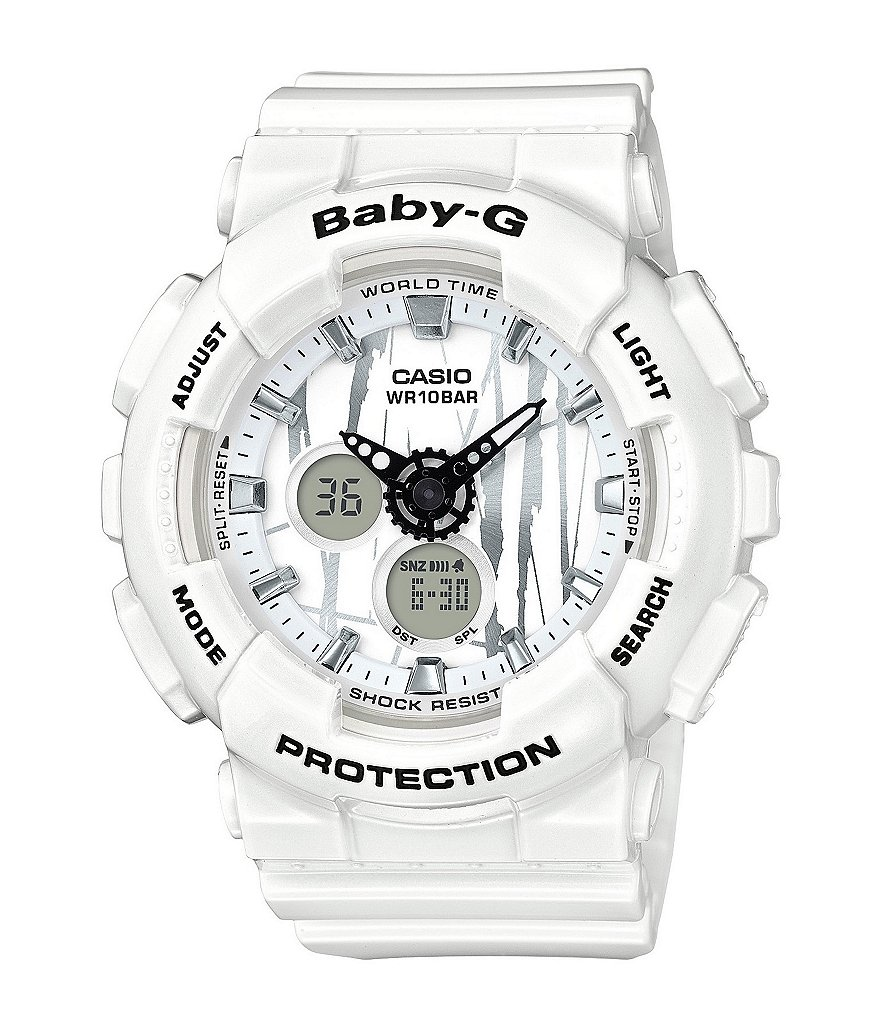 Baby-G Slash Ana-Digi Resin-Strap Watch