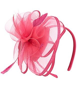 Copper Key Duchess Fascinator Feather Satin Headband