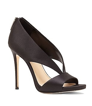 Imagine Vince Camuto Deluxe Dailey Satin Peep Toe Dress Pumps