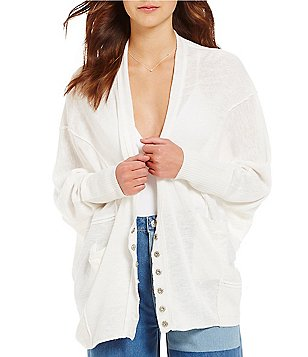 Free People Days Like This Open Front Long Sleeve Loose Fit Cardigan