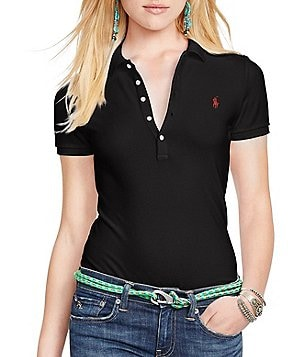 Polo Ralph Lauren Julie Skinny-Fit Stretch Polo Shirt