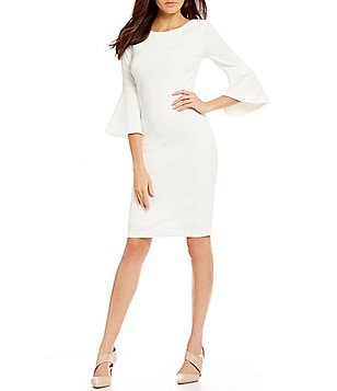 Calvin Klein Petite Bell-Sleeve Sheath Dress