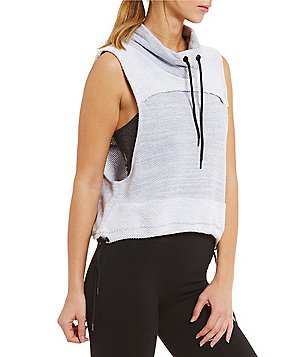 Free People Hooded Cowl Neck Sleeveless Wrap It Up Top