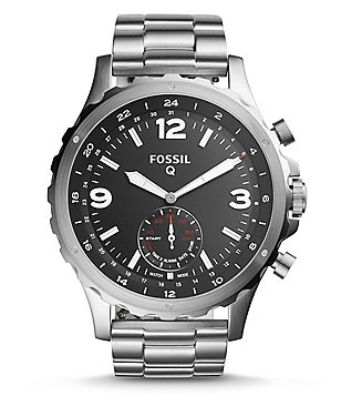 Fossil Q Nate Stainless Steel Bracelet Analog Hybrid Smart Watch