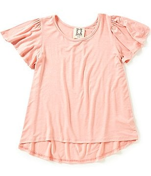 People´s Project LA Big Girls 7-16 Rosy Short-Sleeve High-Low Tee