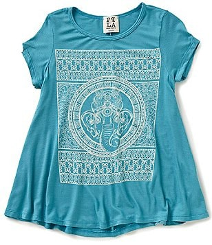 People´s Project LA Big Girls 7-16 Short-Sleeve Mosaic-Print Graphic Tee