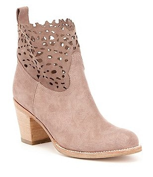 Frye Victoria Cut Out Short Round Toe Boots