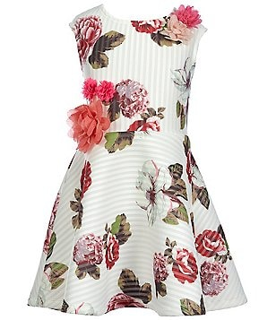 Hannah Banana Black Label Big Girls 7-16 Floral-Print Skater Dress