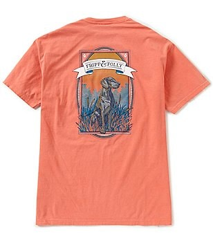 Fripp & Folly Men's Weimaraner Short-Sleeve Graphic Tee