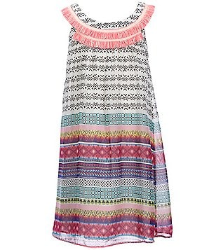 Truly Me Big Girls 7-16 Sleeveless Printed A-line Dress