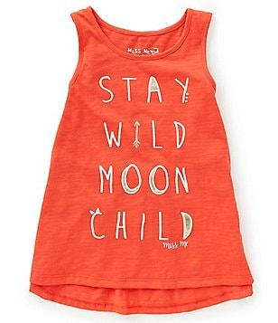 Miss Me Girls Big Girls 7-16 Stay Wild Moon Child Tank Top