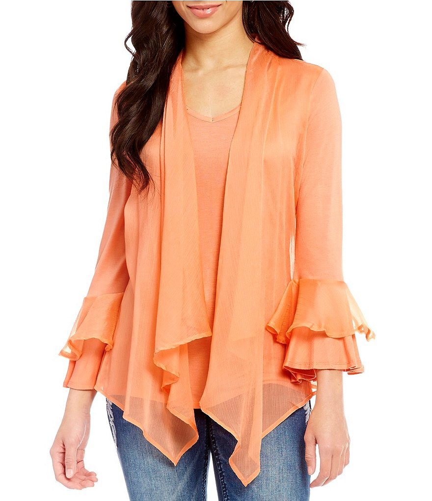 Reba Shades of Spring Collection Tiffany Twofer Knit Top