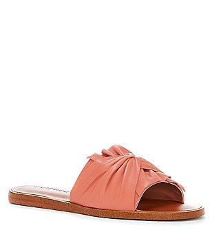 1. STATE Chevonn Twisted Leather Slide Sandals