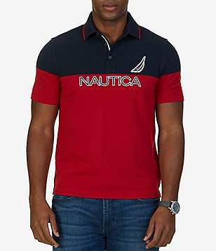 Nautica Classic-Fit Color Block Short-Sleeve Polo Shirt