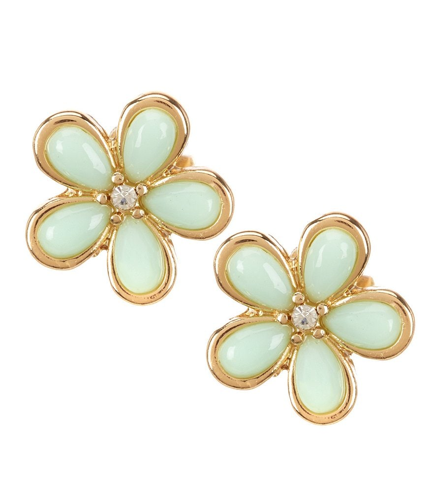 dillard 180 s tailored flower stud earrings dillards