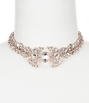Belle Badgley Mischka Faux-Crystal & Ribbon Choker Necklace