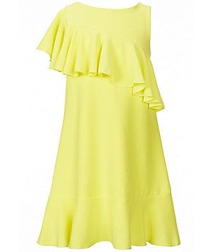 GB Girls Big Girls 7-16 Ruffle-Shoulder Shift Dress