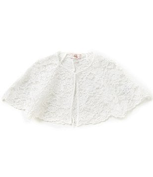 GB Girls Big Girls 7-16 Lace Capelet Jacket