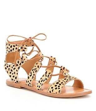 Dolce Vita Jasmyn Genuine Haircalf Ghillie Sandals