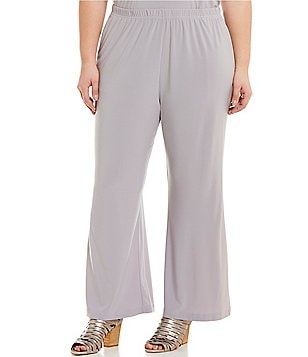 IC Collection Plus Elastic Waist Straight Pants