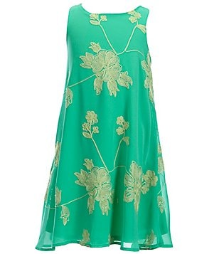 GB Girls Big Girls 7-16 Floral-Embroidered Swing Dress