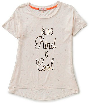 GB Girls Big Girls 7-16 Foiled Being Kind is Cool Graphic Short-Sleeve High-Low Tee