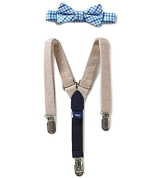 Starting Out Baby Boys Check Bow Tie & Suspenders Set