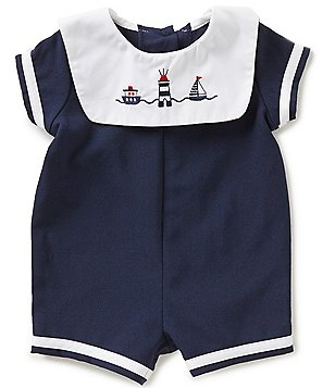 Starting Out Baby Boys 3-9 Months Nautical Embroidered Shortall