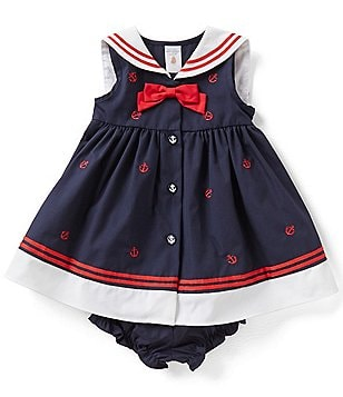Starting Out Baby Girls 3-24 Months Anchor Nautical Dress
