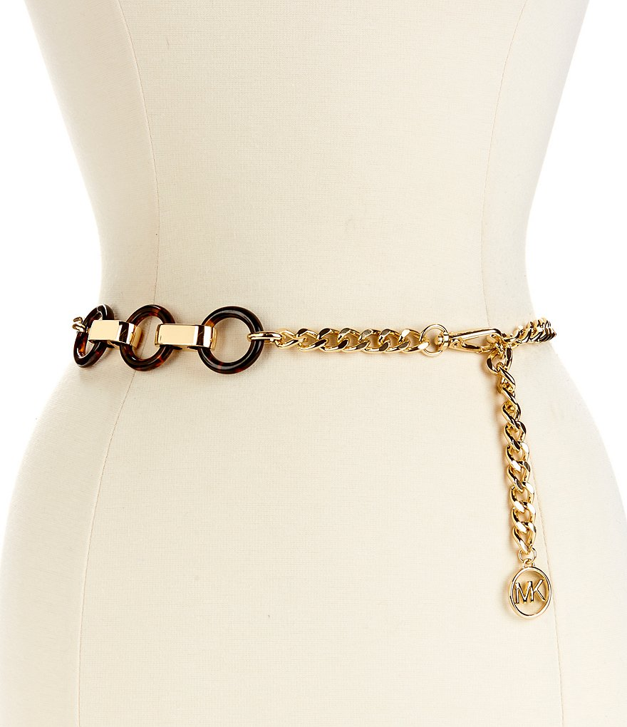 Michael Kors Resin Link Chain Belt