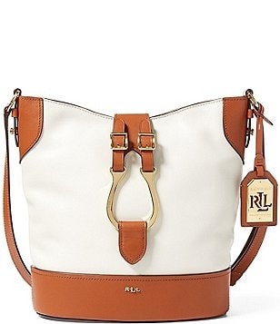 Lauren Ralph Lauren Dorrington Collection Caden Equestrian Bucket Bag